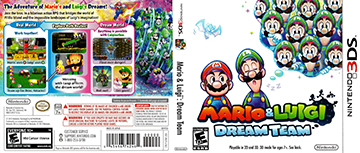 Mario And Luigi Dream Team 3ds The Cover Project