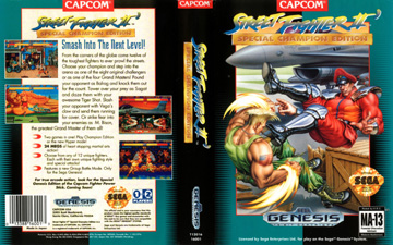 Street Fighter 2 Special Champion Edition Genesis The Cover