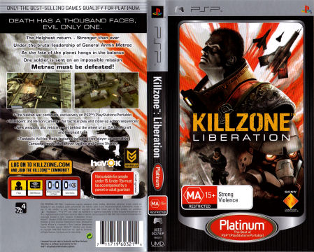 Killzone Liberation Psp The Cover Project