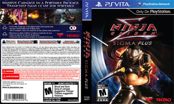 Ninja Gaiden Sigma Plus Vita The Cover Project